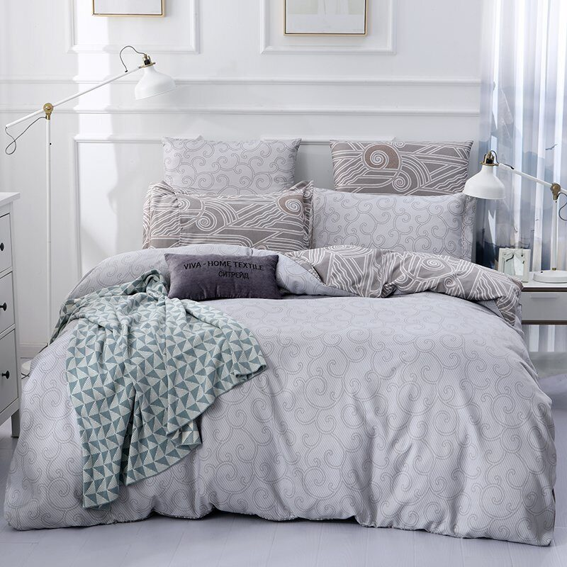 Комплект постельного белья Сатин Вышивка CN036