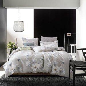 Комплект постельного белья Сатин Вышивка на резинке CNR046