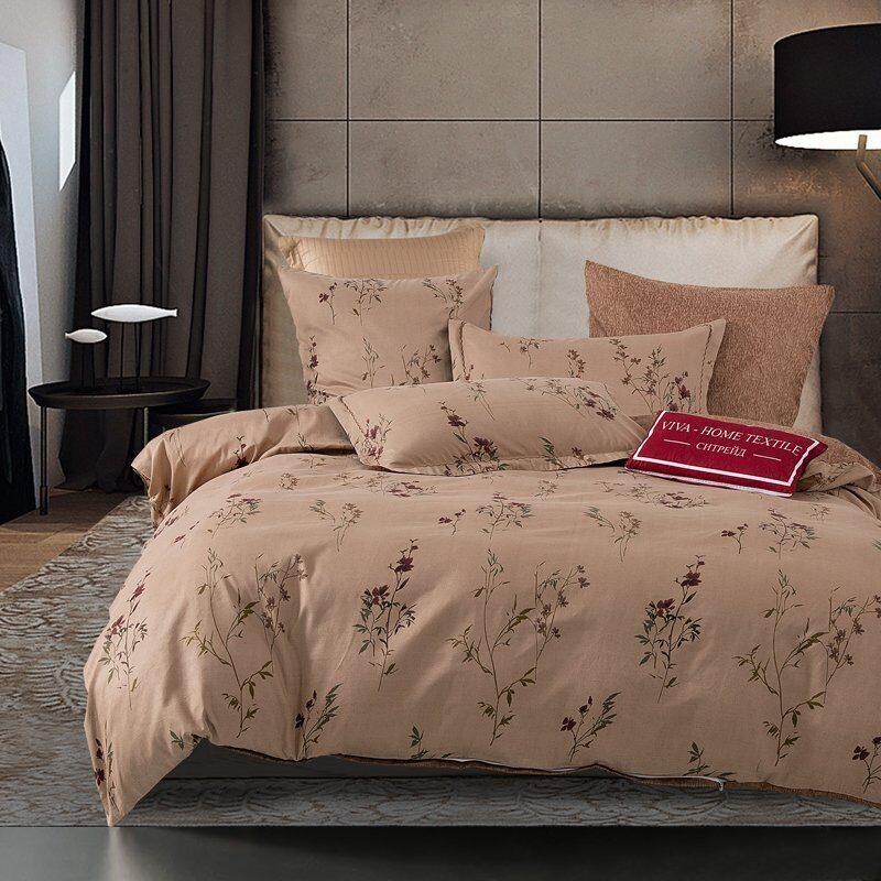 Комплект постельного белья Сатин Вышивка на резинке CNR049