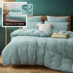 Комплект постельного белья Однотонный Сатин на резинке CSR034