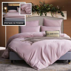 Комплект постельного белья Однотонный Сатин на резинке CSR040
