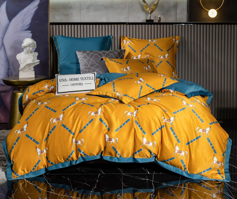 Комплект постельного белья Сатин Роял Тенсель TS013